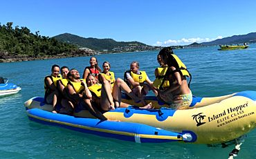 The Ultimate Jet Boat and Banana Boat Combo from Airlie Beach