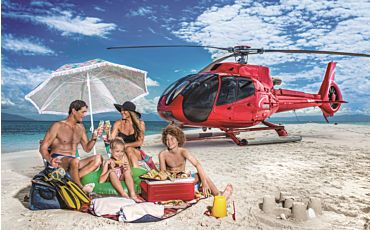 2.5 Hour Vlasoff Sand Cay Getaway Helicopter Tour from Cairns